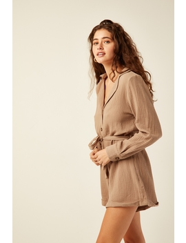 Day Dream Playsuit Tan by Perfect Stranger