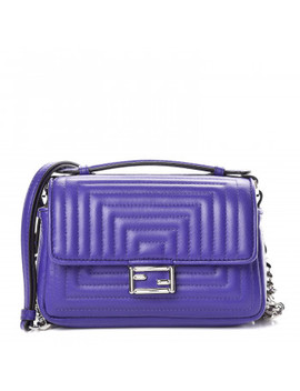 Fendi Nappa Micro Double Baguette Purple by Fendi