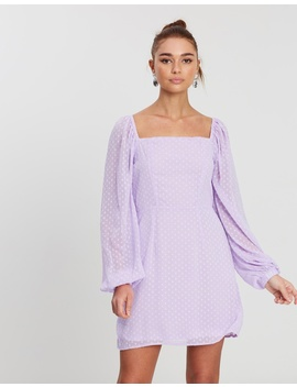 Dobby Milkmaid Ls A Line Dress by Missguided