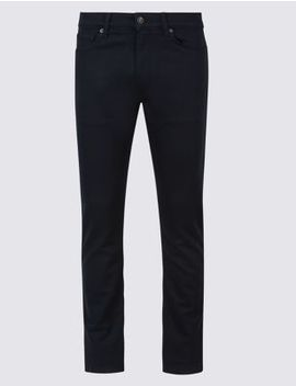 Italian Cotton 5 Pocket Stretch Travel Jeans by Marks & Spencer