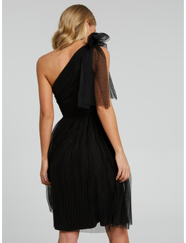 Bow One Shoulder Tulle Dress by Portmans