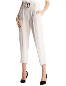 Linen Blend Belted Pant by Tokito