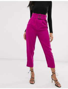 Stradivarius Paperbag Pants In Pink by Stradivarius'