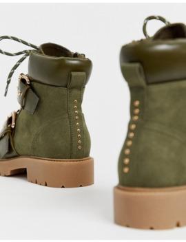 Походные ботинки цвета хаки для широкой стопы Asos Design by Asos Design