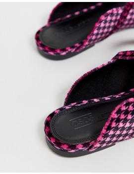 Балетки в розовую ломаную клетку с острым носком Asos Design Legacy by Asos Design