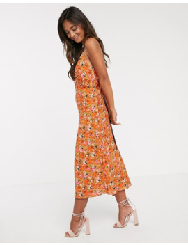 Finders Keepers Bloom Midi Slip Dress With Contrast Lace Up Back by Finders