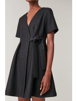 Tie Up Wool Dress by Cos