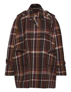 Oversized Checked Wool And Silk Blend Jacket by Acne Studios