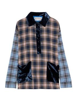 Hoult Velvet Trimmed Checked Cotton Flannel Shirt by Acne Studios