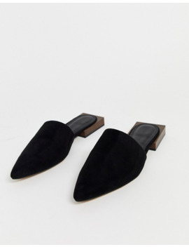 Asos Design Wide Fit Magic Flat Mules In Black by Asos Design