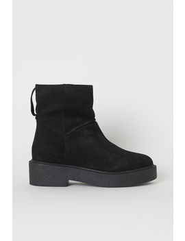 Pile Lined Ankle Boots by H&M