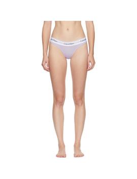Purple Modern Thong by Calvin Klein Underwear