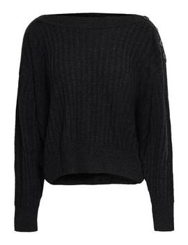 Button Detailed Ribbed Wool Sweater by Iro