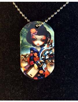 Kirin And Bakeneko &Amp; Ninja Dragonlings Dogtag Necklace From Jasmine Becket Griffith Art Japanese Dragons by Etsy