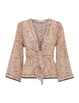 Jarley Tie Front Printed Silk Crepe De Chine Blouse by Iro