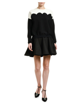 Scallop Colorblocked Sweater by Valentino