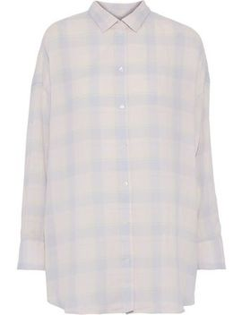 Camar Checked Cotton, Linen And Ramie Blend Flannel Shirt by Iro