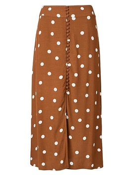 Button Through Midi Skirt by Witchery