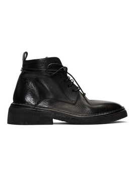 Black Burraccia Anfibio Boots by MarsÈll