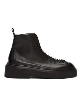 Black Parruccona Anfibio Pedula Boots by MarsÈll