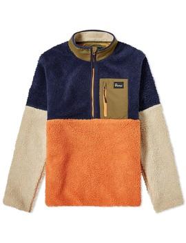 Penfield Medford Colour Block Quarter Zip Fleece by Penfield