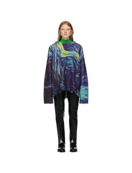 Blue Mohair Rezyane Sweater by Namacheko