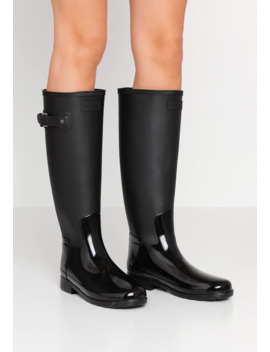 Womens Refined Tall Gloss Duo   Gummistiefel by Hunter