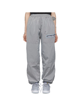 Silver Windcheater Lounge Pants by Aries