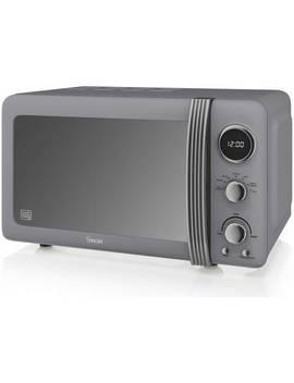 Swan 800 W Standard Microwave Sm22030 Grn   Grey916/6464 by Argos