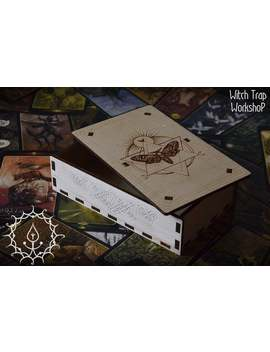 Night Moth Wooden Tarot Box by Etsy