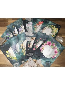 Full Moon Altar Cards, Zodiac Altar Cards, Full Flower Moon, Moon Phase Cards, Moon Deck, Luna Oracle Cards, Astrology Cards, Star Sign Deck by Etsy