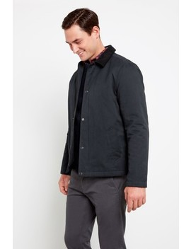 F&F Black Waxed Cotton Jacket by Next