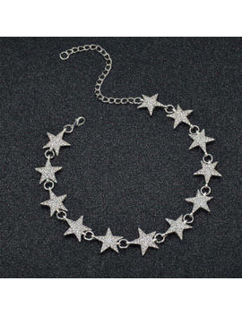 Fashion Chunky Crystal Rhinestone Silver Gold Star Choker Necklace Pendant Chain by Unbranded