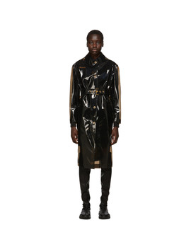 Black Transparent Trench Coat by Versace