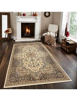 Gillard Medallion Persian Formal Traditional Red/Beige Area Rug by Astoria Grand