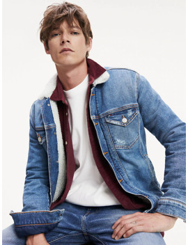 Denim Sherpa Lined Jacket by Tommy Jeans