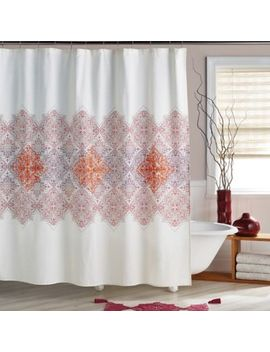 Veneto Shower Curtain In Crimson by Bed Bath And Beyond