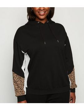 curves-black-colour-block-hoodie by new-look