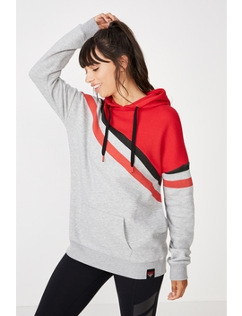 Essendon Afl Ladies Stripe Fleece Hoody by Cotton On