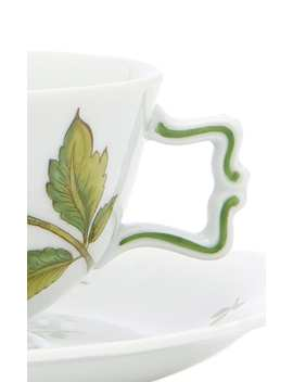 Handpainted Belvedere Tea Cup And Saucer by Augarten Wien