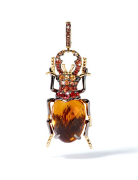 Rose Gold And Citrine Beetle Charm by Annoushka