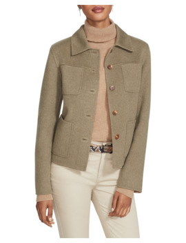 Tomasa Two Tone Double Face Wool/Cashmere Jacket by Lafayette 148 New York
