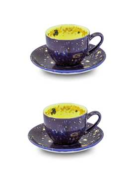 Set Of 2 Tea Cup And Saucer Apollo by Coralla Maiuri
