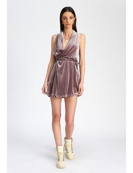 Bel Air Velvet Dress – Dusty Cedar by Lioness Fashion