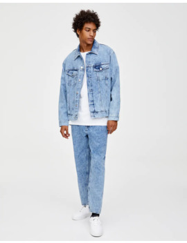 Giacca In Jeans Acid Wash by Pull & Bear