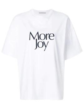 'more Joy' T Shirt by Christopher Kane