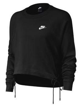 Lace Up Hem Cotton Blend Sweatshirt by Nike