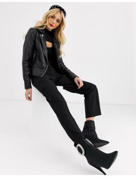 Lipsy Pu Biker Jacket In Black by Lipsy