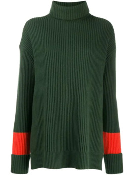 Contrast Stripe Ribbed Jumper by Chinti & Parker