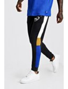 Man Jersey Colour Block Side Panel Joggers by Boohoo Man